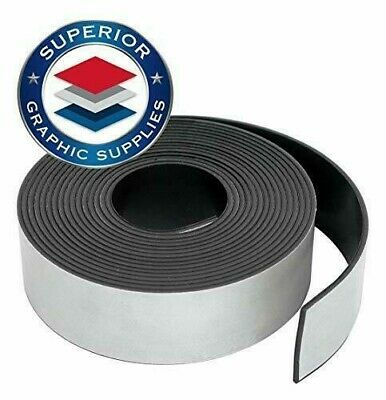 Self Adhesive Strong Flexible Magnetic Tape Roll Durable 0.03 Thick 1 Roll