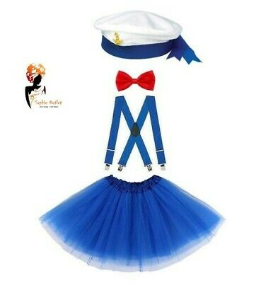 SAILOR COSTUME Kids Ladies Retro Navy Outfit  Sea Hen Party FANCY DRESS](Sailor Moon Costumes)