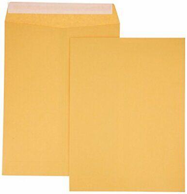 Amazonbasics Catalog Mailing Envelopes Peel Seal 9x12 Inch Brown Kraft 100