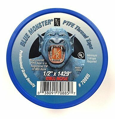 Milrose 70885 Blue Monster 12 Inch X 1429 Inch Blue Teflon Tape 3 Pack