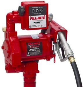 Tuthill Fill Rite FR701V 115 Volt AC Fuel Transfer Pump & Meter