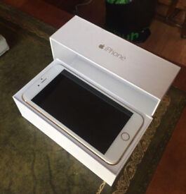 IPhone 6 Plus gold 128gb unlocked (Like New) (Boxed)