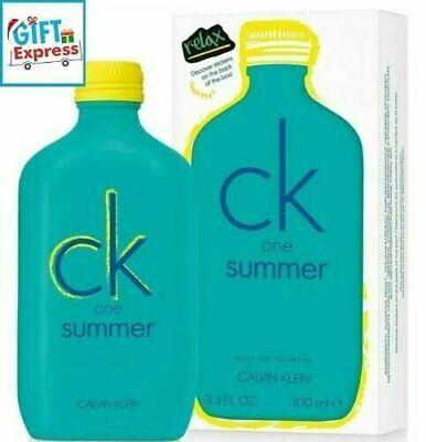 CK One Summer 2020 Calvin Klein EDT 3.3 Oz/ 100 Ml Brand New In BOX (NEW 2020)