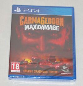 SONY PLAYSTATION PS4 GAME CARMAGEDDON MAX DAMAGE SMASH,CRASH & TRASH STAINLESS.*