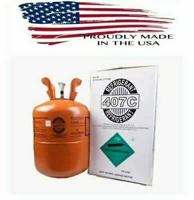R22 Refrigerant Replacement - 407c 25 Lb Virgin Factory Sealed - R407c Cylinder