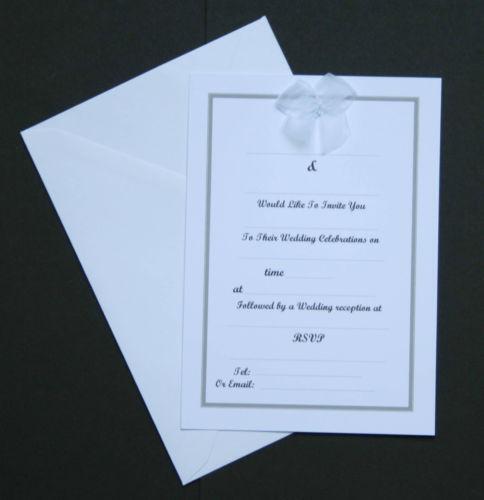 Make Your Own Wedding Invites Kits: DIY Wedding Invitations