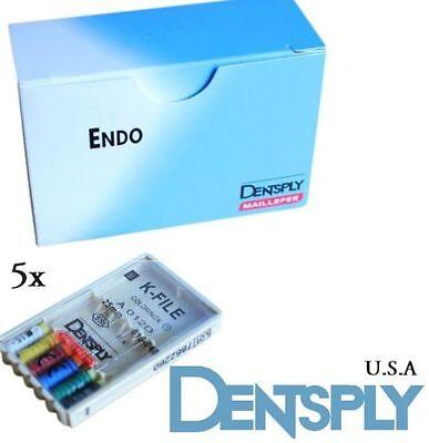Dentsply Niti Endodontic Dental K-files 15-40 - 5 Pack