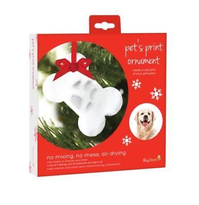 New Tiny Ideas Dog Cat Paw Pawprint Bone Christmas Ornament DIY Kit - Christmas Diy Ideas
