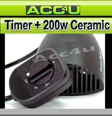 12v 200w In Car Plug Ceramic Fan Heater Windscreen Demister Defroster With Timer