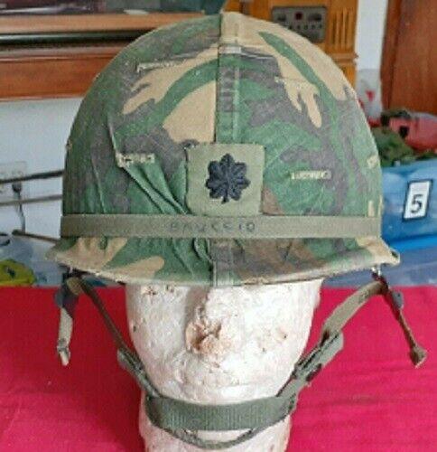 Complete 1980s U.S. Majors Camouflage Steel Helmet Militaria Collectible