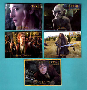 Rare hobbit limited ed trading cards from dennys set of 7 cards