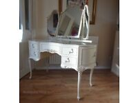 Romantic Louis XV style Bedroom Suite, Side Table, Chest of Drawers, Dressing Table