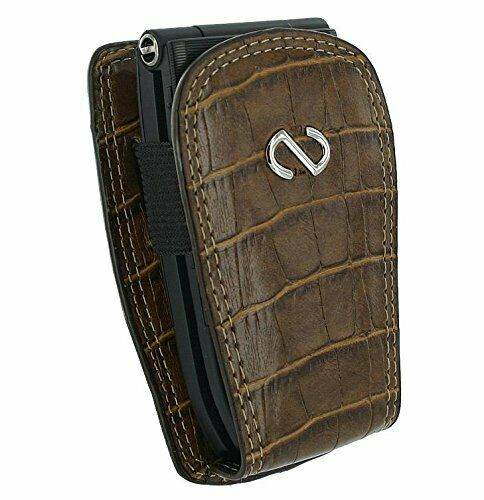 Brown Leather Alligator Case fits Coolpad Snap Flip Phone