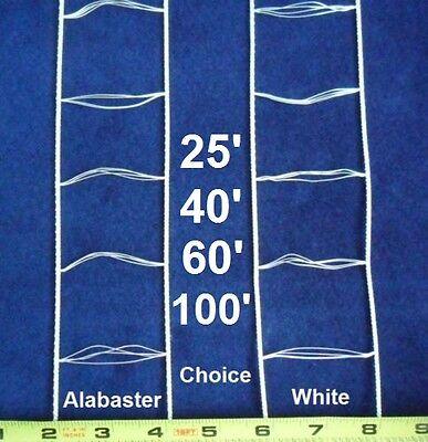 Ladder String Tape For 2 Inch Wood Faux Vinyl Blind White Alabaster 25 - 100 Ft. ()