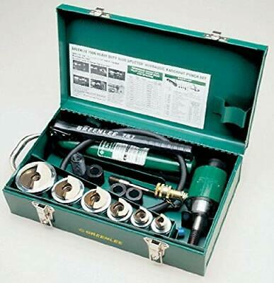 Greenlee 7506 Self Centering Knockout Punch Kit With Hydraulic Ram And Pump