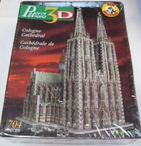 Cologne Cathedral, 704 Piece 3D Jigsaw Puzzle Made by Wrebbit