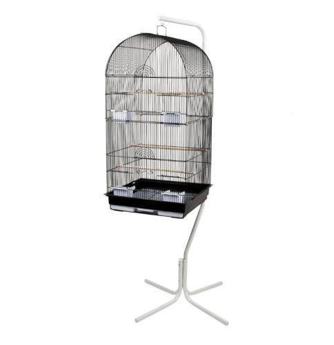 white bird cage stand ebay. Black Bedroom Furniture Sets. Home Design Ideas