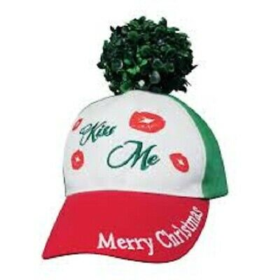 Mistle Toe Hat (Kiss Me Under the Mistletoe Merry Chritsmas Funny Hat Cap Holiday Xmas Gift)