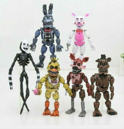 "6 pcs FNAF Five Nights At Freddy/'s Pizza Simulator 5.5/"" Action Figures Game Toy@"