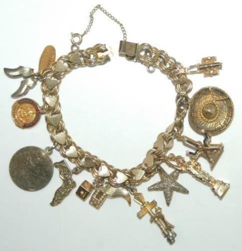 Vintage Gold Filled Charm Bracelet | eBay