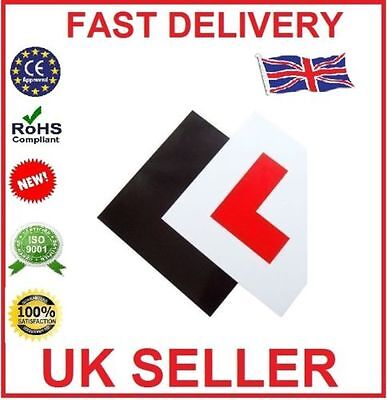 Genuine 2 x FULLY Magnetic Exterior Car New Learner L Plates  Secure & Safe UK