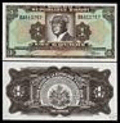 HAITI 1 GOURDE P-200 1919 PAPA DOC DR.FRANCOIS DUVALIER UNC CARIBBEAN MONEY NOTE