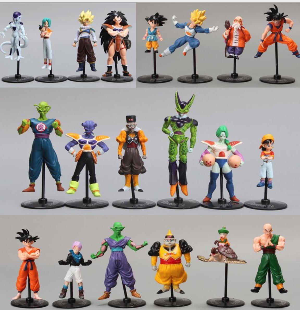 "Anime Dragon Ball Z 7.9/"" Vegeta Torankusu 5.1/"" Trunks Statue PVC Figure Model"