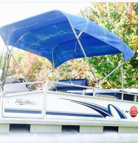 shade inflatable top canopy bimini pontoon shelter sun awning pin boat