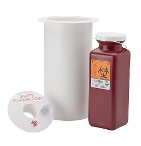 DCI Through Counter Sharps Container Chute - Under Cabinet Disposal - for Pelton