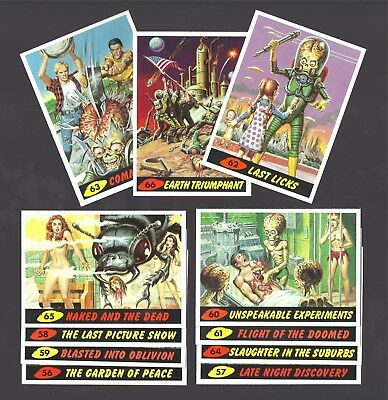MARS ATTACKS! ARCHIVES 1994  #56-66 UNPUBLISHED 11 CARD SET  PLUS 2 WRAPPERS