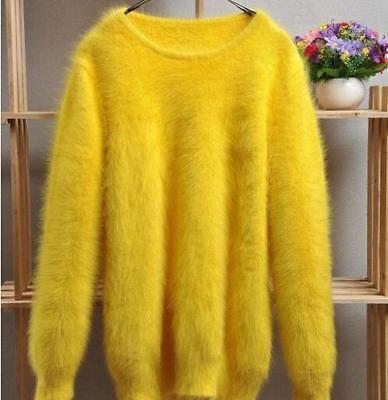 Faux Kaschmir-pullover (Furry Damen Faux Nerz Pullover Warmer Mantel Kaschmir Casual Tops outwear neue)