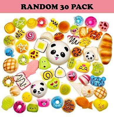 30 Pack Squishies Slow Rising Awesome Squishy Toy Silly Kawaii in Shapes of F...