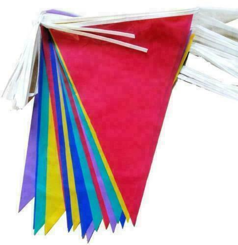 33ft+Long+Bunting+Flags+Banner+Party+Sport+School+Event+Home+Garden+Decora+Nice%2A