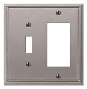 brushed nickel switch plate ebay. Black Bedroom Furniture Sets. Home Design Ideas