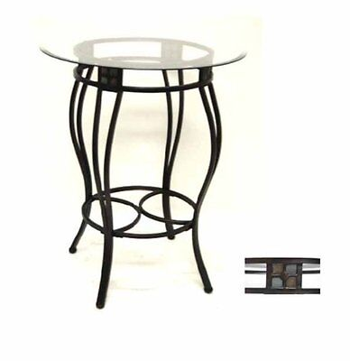 Boraam Beau Metal Pub Table With Glass -