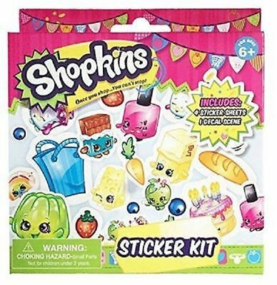 Shopkins Sticker Activity Kit - 100+ Stickers W 4 Sheets & 1 Decal Scene New!!