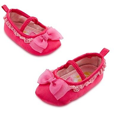 Disney Store Sleeping Beauty Aurora Baby Costume Shoes 6-12 12-18 18-24 Months