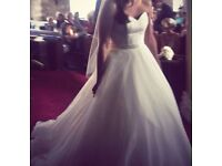 Madeline Isaac James Olivia Wedding Dress Size 10 12 Ivory Sweet Heart Silk
