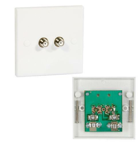 Satellite Wall Plate Sky Faceplate Socket Connector Ebay