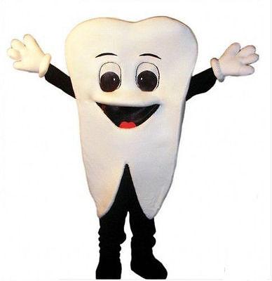 Adults Dentists Advertising Tooth Mascot Costume Dental Care Cartoon Doll Dress (Dentist Halloween Cartoon)