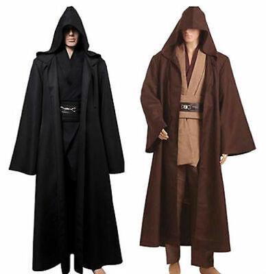 Star Wars Jedi Knight Cloak Adult Robe Cosplay Costume Hooded Cape Halloween](Jedi Knight Robe)