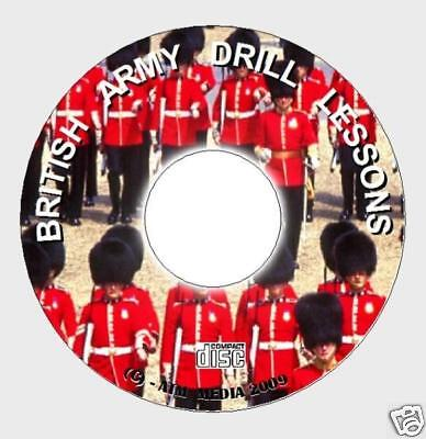 OFFICIAL ARMY DRILL INSTRUCTORS MANUAL PC CD COLOURS SALUTING FOOT DRILL Etc NEW
