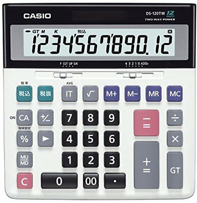 New Casio desk calculator type DS-120TW from Japan