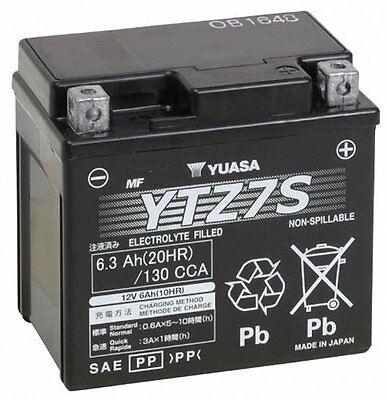NEW Genuine Yuasa YTZ7S FA Maintenance Free Motorcycle Battery 12V 6Ah 130CCA