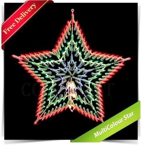 Christmas star window lights ebay for 6 star window christmas decoration lights