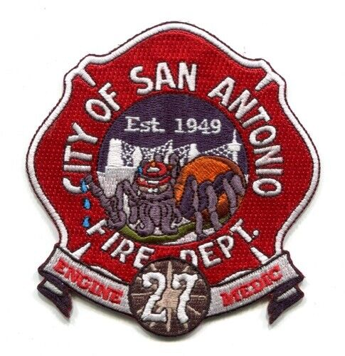 San Antonio Fire Department Station 27 Engine Medic Patch Texas TX