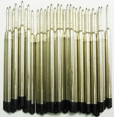 12 - Ballpoint Refills for PARKER PEN, Smooth Flow Ink - BLACK Medium