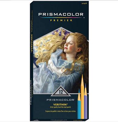 Prismacolor Premier Colored  Verithin Pencils 12 Pack Color Pencils