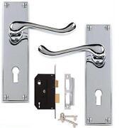 Chrome Door Handles with Lock