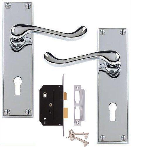 Chrome Door Handles With Lock Ebay